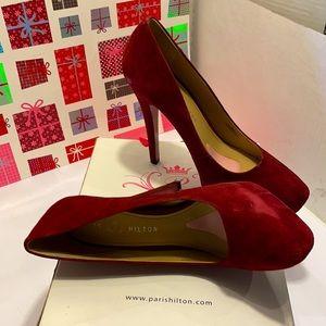 NWB Paris Hilton Mindy Claret Heel Pumps. Size:11M